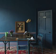 Sept 2013 @Lonny Magazine selects deep blue as a color to watch for fall! #interiordesign #color #jeweltone