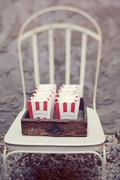 I thik these are great for our reception! I have thought about our favorite snack & think this would be a cool thing for our Pops in teh Park Carnival feel wedding!