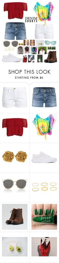 """""""Denim Shorts in Summer"""" by elizabethsolace ❤ liked on Polyvore featuring Frame, Citizens of Humanity, Keepsake the Label, Liberty, Vans, Christian Dior, American Eagle Outfitters and Linda Farrow"""