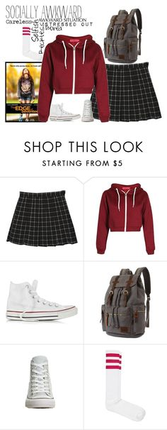 """""""The Edge Of Seventeen"""" by fashion-nova ❤ liked on Polyvore featuring StyleNanda, Boohoo, Converse and American Apparel"""