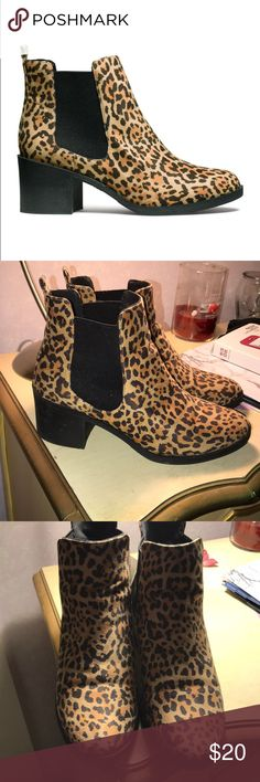 Leopard Print Ankle Chelsea Boots Worn but still in very good condition! H&M Shoes Ankle Boots & Booties
