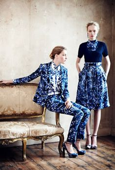 Estampados azules de Resort Erdem 2013
