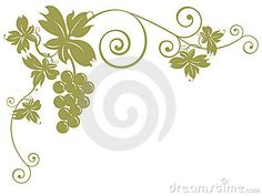 Bunches of grapes and leaves by Moonbloom, via Dreamstime