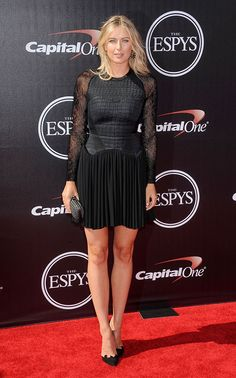 Best Red Carpet Fashions at the 2014 ESPY Awards - Maria Sharapova from Tall Women, Sexy Women, Espy Awards, Maria Sharapova Photos, Yuri, Tennis Players Female, Fashion Vocabulary, Tennis Stars, Elie Saab Dresses
