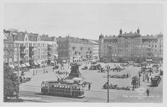 Ett äldre vykort med motiv från Möllevångstorget
