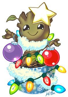 Oh Christmas Groot, oh Christmas Groot, how lovely are thy dances. art kevinbolk - Guardians of the Galaxy 2014 movie fan art