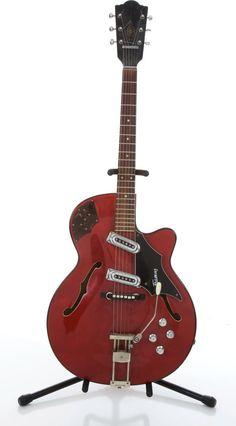 Framus Atlantic 5 110 Red Archtop Electric Guitar