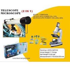 LIZER TWMP-0406 Mikroskop Ve Teleskop Seti    Mikroskop gücü: 100x, 400x ve 900x.  Teleskop gücü: 50x, 100x.  Açıklık : 50 mm(2'')  Odak Uzaklığı : 600mm (f/12)  Finderscope : 5x24  Çapraz Hibrid : 90  Dikey Mikro Kolay Ayar için Yavaş  Hareket Kontrol Çubuklu Üçayak  Maksimum Yükseklik : 125cm  Aksesuar Tepsisi  Standart 0.965''  Mercek : H6mm , H20mm