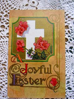 Easter Postcard Vintage Postcard Antique Postcard by INeedThat, $4.00