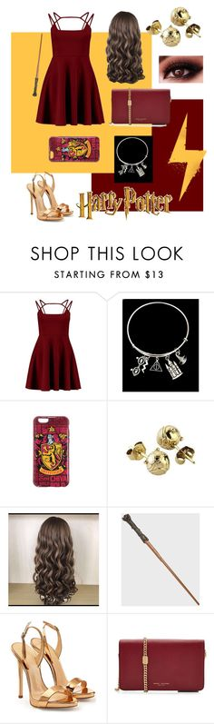 """""""Gryffindor dance outfit"""" by jess-faber ❤ liked on Polyvore featuring Giuseppe Zanotti and Marc Jacobs"""