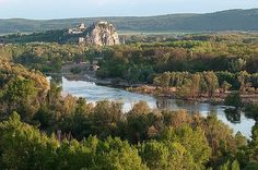 Devin castle view from Petrzalka side.