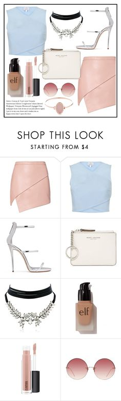 """""""666"""" by bad-bunny15 ❤ liked on Polyvore featuring Michelle Mason, Giuseppe Zanotti, Marc Jacobs, WithChic, e.l.f., MAC Cosmetics, Linda Farrow and Michael Kors"""