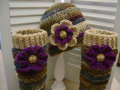 Crochet Little Girls Hat Beanie Leg Warmers Set Boutique Style Owl ...