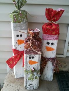 Great Homemade Christmas Gift Ideas: #DIY #snowmen
