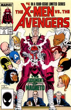 The X-Men Vs. The Avengers #4, July 1987, cover by Keith Pollard and Josef Rubinstein