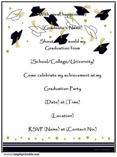 free graduation invitation templates free printable graduation invitations templates design pinterest free printable graduation invitations