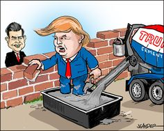 President Donald Trump stands by his election promise to build the wall against Mexico.