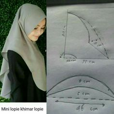 New dress pattern sewing women tutorials Ideas Tudung Shawl, Abaya Pattern, Instant Hijab, Hijab Style Dress, Turban Hijab, Techniques Couture, Hijab Tutorial, Beautiful Hijab, Dress Sewing Patterns