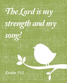 Exodus 15:2 The Lord is my strength and song, and he is become my salvation: he is my God, and I will prepare him an habitation; my father's God, and I will exalt him. (KJV)