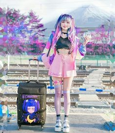 Ruffles, pastels, or dark rich colors can make for a sweet or gothic Lolita inspired outfit. The Effective Pictures We Offer You About my ideas … Pastel Goth Outfits, Pastel Goth Fashion, Kawaii Fashion, Gothic Fashion, Mode Kawaii, Kawaii Goth, Harajuku Girls, Harajuku Fashion, Japonese Girl