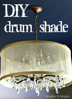 DIY Drum Shade {Tutorial} - great way to update your chandelier, much more affordable than store bought drum shade.