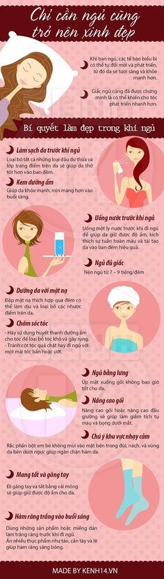 Mẹo vặt giúp bạn đẹp ngay cả khi ngủ