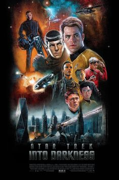 Star Trek: Into Darkness Illustrated Poster — PAUL SHIPPER STUDIO
