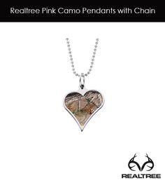 Realtree AP Camo Titanium Heart Pendant with Chain $175