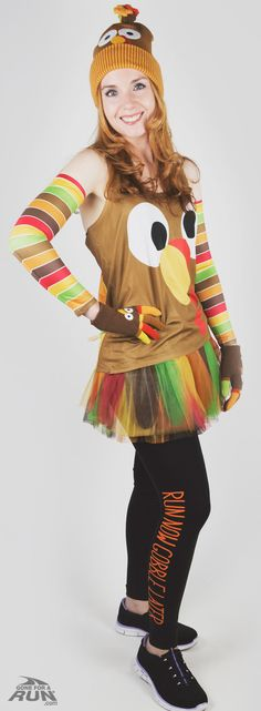 I love this Goofy Turkey running outfit! Perfect for my Turkey Trot this year.