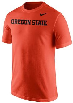 Cheer your favorite team all the way to victory in this Nike Oregon State Beavers tee. PRODUCT FEATURES Official school wordmark Crewneck Short sleeves Cotton Machine wash Imported