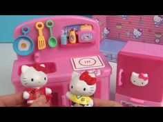 f47964862 Hello Kitty Toys Kitchen Playset Baby Cooking Toys Videos for Kids New C.