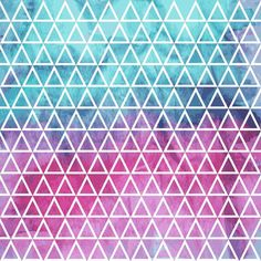 Vector Seamless Geometric Pattern on watercolor winter background ...