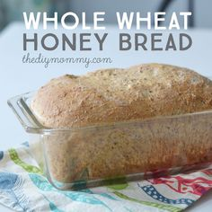 The BEST whole wheat & honey bread recipe. It's quick to make, stays moist and delicious long after its baked, and uses healthy and simple ingredients. recipes homemade healthy Bake the Best Whole Wheat & Honey Bread Sandwich Bread Recipes, Healthy Bread Recipes, Bread Machine Recipes, Cooking Recipes, Best Wheat Bread Machine Recipe, Healthy Homemade Bread, Homemade Sandwich Bread, Healthy Breads, Honey Recipes