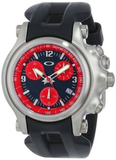 Oakley Men's 10-217 Holeshot Unobtainium Strap Edition Chronograph Rubber Watch.