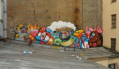 Street art in St. Petersburg, Russia, by Lastplak