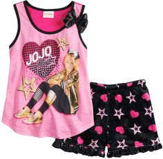 Give your dancing diva cool style with this girls' JoJo Siwa tank top and shorts pajama set. Dance Outfits, Girl Outfits, Jojo Siwa Outfits, Unicorn Swimsuit, Kids Jeep, Jojo Siwa Bows, Justice Accessories, Jojo Siwa Birthday, Little Girl Toys