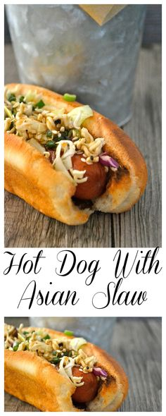Hot Dog with Asian Slaw