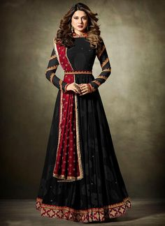 Anarkali Suits - Buy Indian Anarkali Suits with the latest designs and attractive offers online. Best collection of Partywear and festive wear Anarkali Dress for women. Black Anarkali, Anarkali Dress, Anarkali Suits, Lehenga Suit, Long Anarkali, Indian Gowns Dresses, Indian Outfits, Formal Dresses, Elegant Dresses