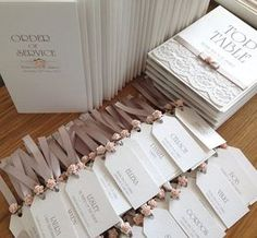 This is a cool wedding invitation idea: pin reception tags onto the invitation itself! http://www.zazzle.com/eternalflame: