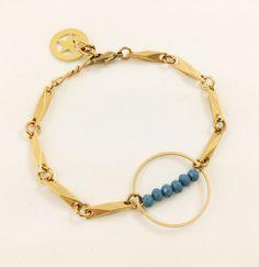 Laiton doré - Cristal de Bohême Charlotte, Bracelets, Gold, Jewelry, Fashion, Crystal, Brass, Moda, Jewlery