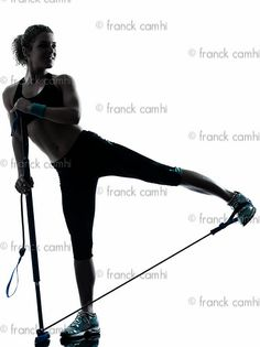 Ohy, it is woman exercising gymstick fitness workout! It is great gym workout routines for women! I tried this once!