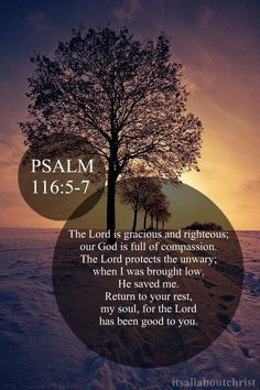 Psalm 116:5-7