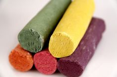 Veggies chalkboard crayons
