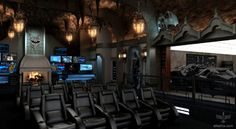 Bat-cave home theater
