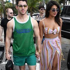 Priyanka Chopra in sexy beachwear at Miami teaches how to do holiday fashion right. See pics Sexy Beach Wear, Priyanka Chopra, Kareena Kapoor, Bikini Clad, Green Bikini, Sheer Tights, Striped Bikini, Nick Jonas, Hollywood Celebrities