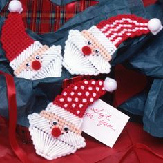 Hats Off To Santa Plastic Canvas Patterns ePattern - Leisure Arts