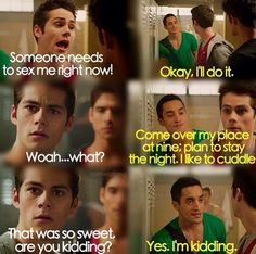 Haha, I love Stiles and Danny - Teen Wolf
