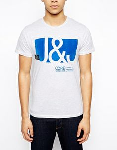 Enlarge Jack & Jones T-Shirt With Flock Print