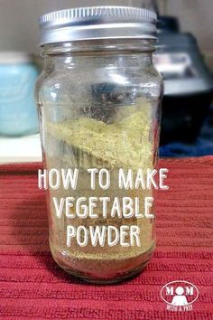 What can you do with leftover bits of vegetables or dehydrated vegetables? Make Dehydrated Vegetable Powder! Learn how easy it is from Mom with a PREP! Dehydrated Vegetables, Dehydrated Food, Planting Vegetables, Veggies, Homemade Spices, Homemade Seasonings, Kale Powder, How To Make Kale, Canned Food Storage