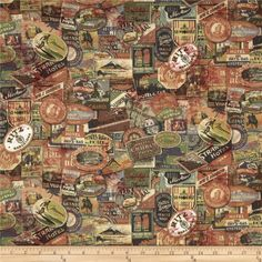 Tim Holtz fabric designs - eclectic, interesting. Great for historical or masculine feeling projects.